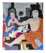 Death Of Socrates Fleece Blanket