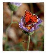 Death Valley Butterfly Fleece Blanket
