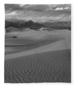 Death Valley Dunes Black And White Fleece Blanket