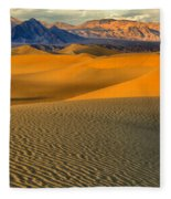 Death Valley Golden Hour Fleece Blanket