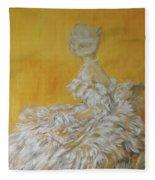 Jenny As A Debutante Fleece Blanket