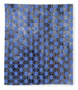 Decadent Urban Blue Patterned Abstract Design Fleece Blanket