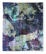 Decadent Urban White Splashed Bricks Grunge Abstract Fleece Blanket