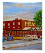 Decarie  Tasty  Food  Pizza Fleece Blanket
