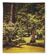 Decayed Vegetation - Run Swamp, North Carolina Fleece Blanket