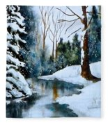 December Beauty Fleece Blanket