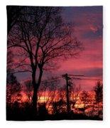 December Morning Fleece Blanket