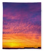December Nebraska Sunset 004 Fleece Blanket