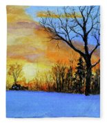 December Sunset Fleece Blanket