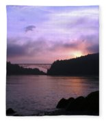 Deception Pass Sunrise Fleece Blanket