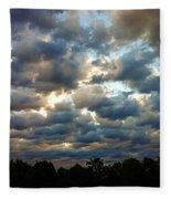 Deceptive Clouds Fleece Blanket