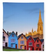 Deck Of Cards And St Colman's Cathedral, Cobh, Ireland Fleece Blanket