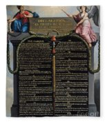 Declaration Of The Rights Of Man And Citizen Fleece Blanket