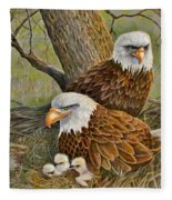 Decorah Eagle Family Fleece Blanket