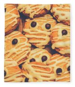 Decorated Shortbread Mummy Cookies Fleece Blanket