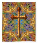 Decorative Cross Fleece Blanket