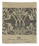Decorative Design In National Colors, Carel Adolph Lion Cachet, 1874 - 1945 Fleece Blanket