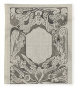 Decorative Design With Angels, Carel Adolph Lion Cachet, 1874 - 1945 Fleece Blanket