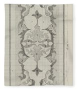 Decorative Design With Color Indications, Carel Adolph Lion Cachet, 1874 - 1945 Fleece Blanket