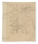 Decorative Design With Eight Seated Women, Carel Adolph Lion Cachet, 1874 - 1945 Fleece Blanket