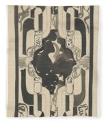 Decorative Design With Four Coats Of Arms, Carel Adolph Lion Cachet, 1874 - 1945 Fleece Blanket