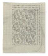 Decorative Design With Geometric Motif, Carel Adolph Lion Cachet, 1874 - 1945 Fleece Blanket