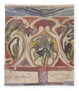 Decorative Design With Two Signatures, Carel Adolph Lion Cachet, 1874 - 1945 Fleece Blanket
