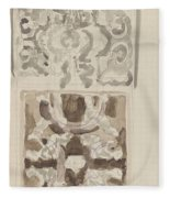Decorative Designs With Seated Figures, Carel Adolph Lion Cachet, 1874 - 1945 Fleece Blanket