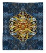 Decorative Gemstone Sacred Geometry Flower Of Life   Fleece Blanket