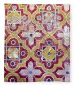 Decorative Tiles Islamic Motif  Fleece Blanket