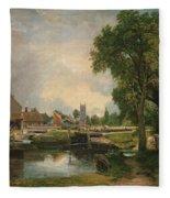 Dedham Lock And Mill Fleece Blanket