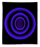 Deep Blue Fleece Blanket