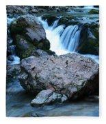 Deep Creek Flowing Between The Rocks Fleece Blanket