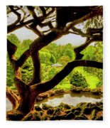 Deep Cuts Gazebo Between The Tree Branches Fleece Blanket