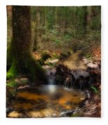 Deep Forest Creek Fleece Blanket
