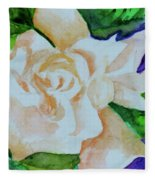 Deep Gardenia Fleece Blanket