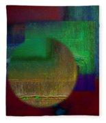 Deep Geometry Fleece Blanket