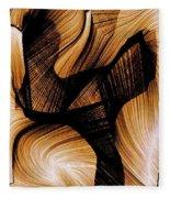 Deep Inside Fleece Blanket by Rafael Salazar