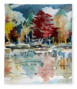 Deep Into Autumn Fleece Blanket
