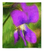 Deep Purple - Wildflower Art Fleece Blanket