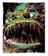 Deep Sea Monster Fish Fleece Blanket