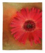 Deep Shaded Daisy Fleece Blanket