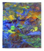 Deep Space Abstract Art Fleece Blanket