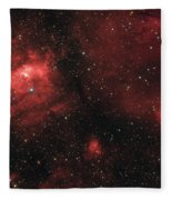Deep Space Bubble Nebula Ngc 7635 In Constellation Cassiopeia Fleece Blanket