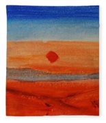 Deep Sunset Fleece Blanket