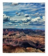 Deep Tones Grand Canyon  Fleece Blanket