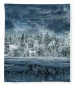 Deep Winter Fleece Blanket