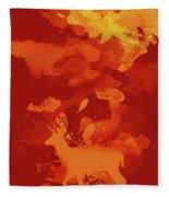 Deer Art Evening Fleece Blanket