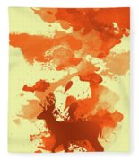 Deer Art Morning Fleece Blanket