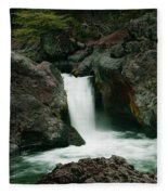 Deer Creek Falls Fleece Blanket